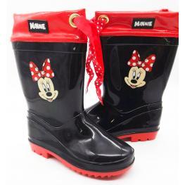 Minnie Botas Para la Lluvia Color Negro/rojo Tallas 30 y 31