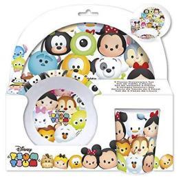 Tsum Tsum Set de Vajilla 3 Piezas Melamina Ref 54990