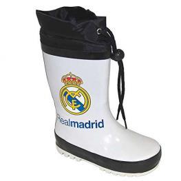 Real Madrid Botas Agua Color Blanca-Negra  Mod-Rm261