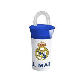 Real Madrid Vaso Con Pajita Refv-01N