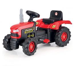 Tractor Rojo y Negro A Pedales