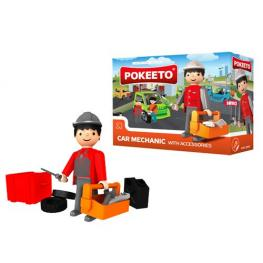 Pokeeto Car Mechanic With Accessories 3+ Años Ref 31012