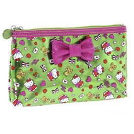 Hello Kitty Neceser Fucsia y Green Ref 15163Ke