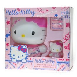 Hello Kitty Set 3D Espuma de Baño, Jabon de Glicerina, Magic Towel, Figurina Ref 10990