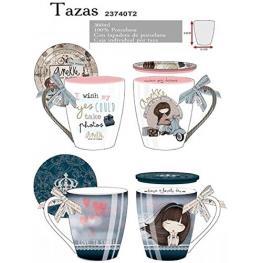 Anekke Taza Porcelana Con Tapa