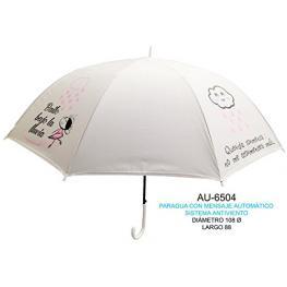 Paraguas Con Frases Que Molan Automatico y Antiviento Diametro 108Cm Largo 88Cm Ref Au-6504