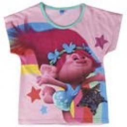 Trolls Camiseta M/corta Cotton Pink T.4 Años Ref 2200001962