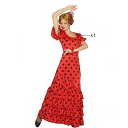 Disfraz Para Adultos Th3 Party Bailaora Flamenca Rojo