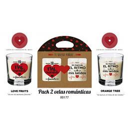 Pack de Dos Velas san Valetin 00177