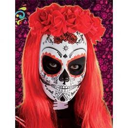 Mascara Calavera Katrina Rosas Ref.3186