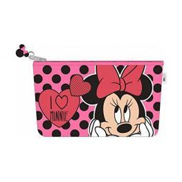Disney Minnie Necesser  I Love Minnie Rojo Con Lunares Negros