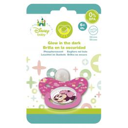 Minnie Baby Chupete Brilla En la Oscuridad Tetina Silicona +6 Meses Ref 39907