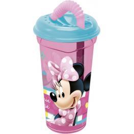 Minnie Mouse Vaso Caña Transparente 380Ml Ref 56531