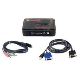 2 Port Usb Switch With Audio.  Cables Included.