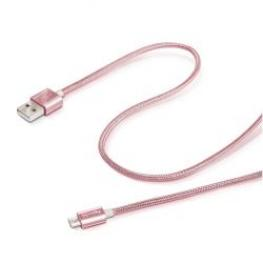 Cable Usb-Micro Textil Rose Gold