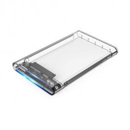 Caja Hdd 2.5  Coolbox Transparente