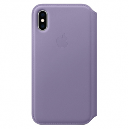 Iphone Xs Leather Folio Lilac