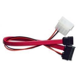 Adaptador Sata Slim (Power+Datos) A Molex 5.25 y Sata Estándar 20Cm