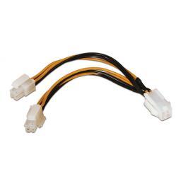 Cable Alimentación. 4Pin/h-4+4Pin/m. 15Cm
