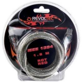 Cable Firewire/ieee-1394 Flashing Cable de Datos, 1,8M, Rojo