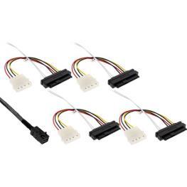 Cable Mini-Sas Hd Sff-8643 A 4X Sas Sff-8482 + Alimentación. 1M.
