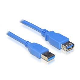 Cable Usb 3.0. Tipo A/m-A/h. Azul. 2.0M
