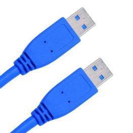 Cable Usb3.0 Tipo A-A Macho Macho 2M. Azul