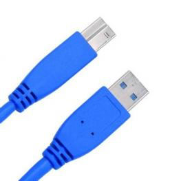 Cable Usb3.0 Tipo A-B Macho Macho 2M. Azul
