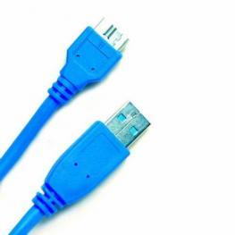 Cable Usb3.0 Tipo A-Microb Macho Macho 2M. Azul