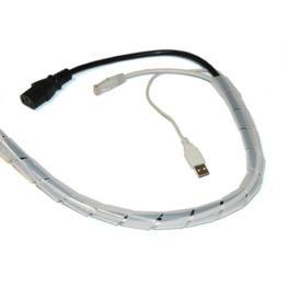 Espiral Blanca Para Organizar Cables 14Mm y 10M