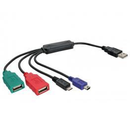 Inline 33294V. Cable-Hub 3Xusb2.0 + Miniusb