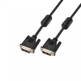 Cable Con Ferrita Dvi-D(M) A Dvi-D(M) Aisens 5M Bk