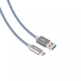 Cable Usb (A) A Usb Tipo C Bluestork Trendy Gris Gris / Tre