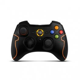 Gamepad Krom Khensu Pc Ps3 Negro/naranja