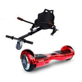 Pack Hoverboard K6+Chromered +Hoverkart Skateflash