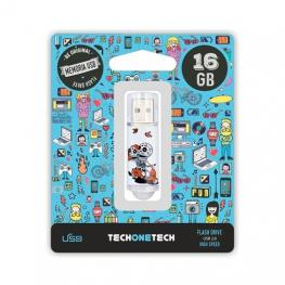 Pendrive 16Gb Tech One Tech Calavera Moto