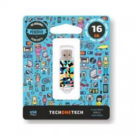 Pendrive 16Gb Tech One Tech Kaleydos