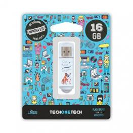 Pendrive 16Gb Tech One Tech Que Vida Mas Perra
