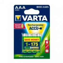 Pilas Recargables Varta Aaa 800Mah Pack 4