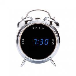 Radio Despertador Bigben Rr90Epoks Plata