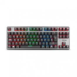 Teclado Krom Kernel Tkl Mecanico Rgb Gaming