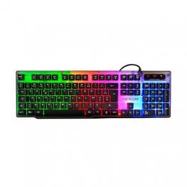 Teclado The G-Lab Gaming Keyz-Neon/pt Multicolor
