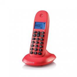 Telefono Inalambrico Dect Digital Motorola C1001Lb+ Rojo