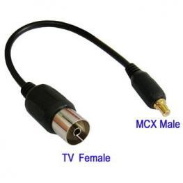 Adaptador Tv Hembra A Mcx Macho 0.15 M