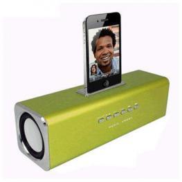 Altavoces Mp3 Cube3 Verde Iphone + Cargador  400Ma