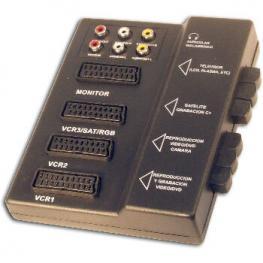 Base 4Xeuroconector+2Xrcas Con Selector Satycon