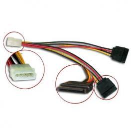 Cable Adaptador Corriente Ide 5.25 A 2Xsata Satyco