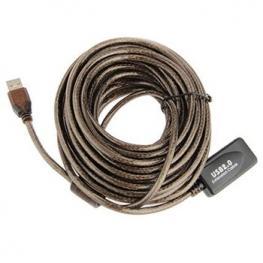 Cable Alargador Usb 2.0 Activo 10M Negro Satycon