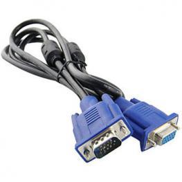 Cable Alargador Vga+ Db15 Macho-Hembra 10M Negro