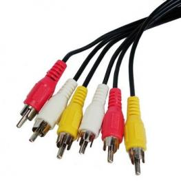 Cable Av 10M 3Xrcas Macho/macho Satycon